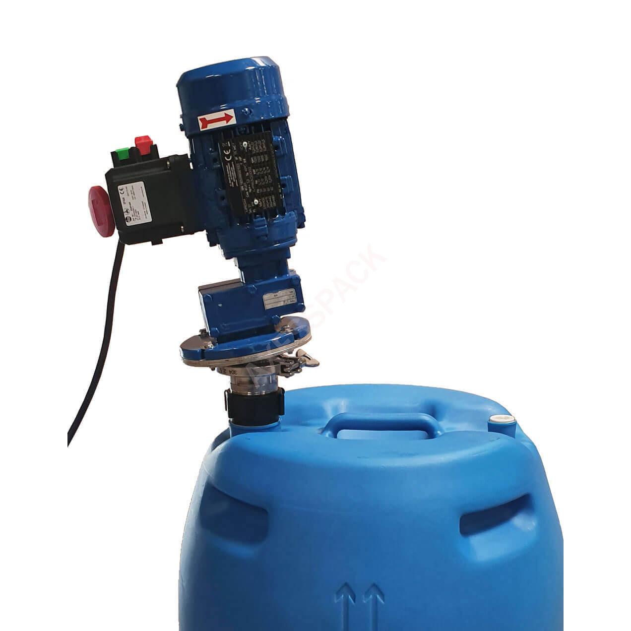 Agitateur électrique TM fût 210L - 285 tr/min + Adaptateur universel + Bouton M/A