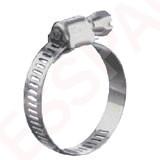 Collier de serrage inox à bande ajourée 10-16 mm