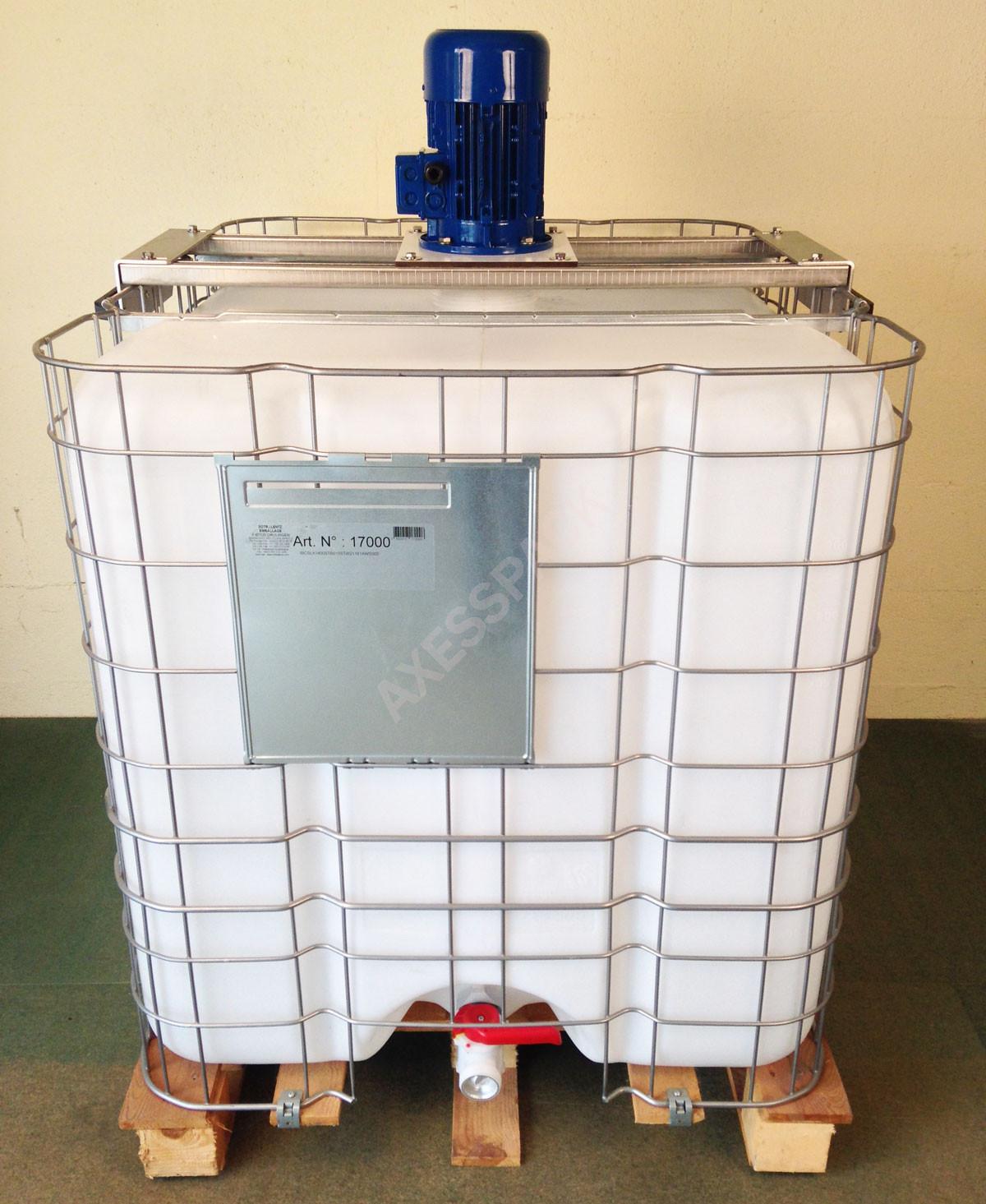 Agitateur électrique de cuve IBC - 915 tr/min + Adaptateur universel