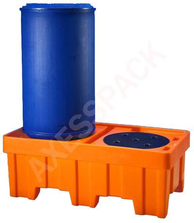 Bac de rétention 220 Litres PEHD avec caillebotis PE