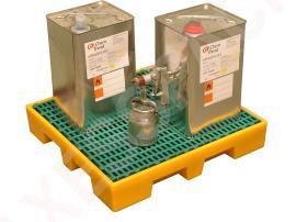 Plateforme de rétention 35 litres plastique avec caillebotis polypropylène