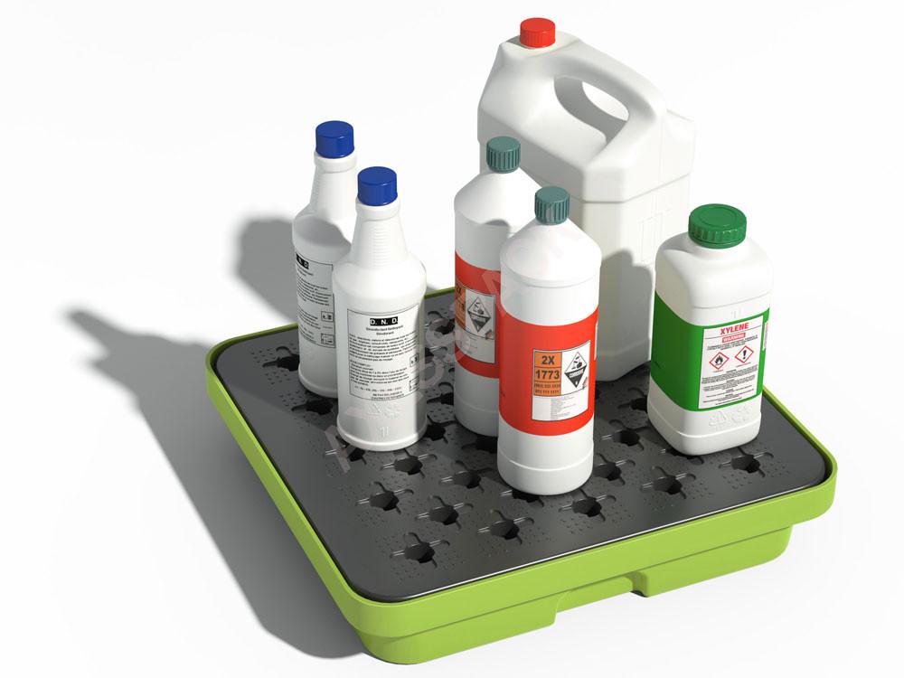 Bac de rétention PE 10 litres - Caillebotis plastique - Vert