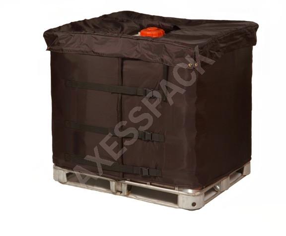 Couverture isolante + Coiffe isolante pour Cuve IBC
