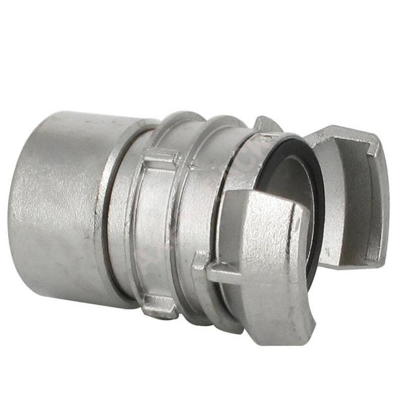 """Demi-raccord symétrique avec verrou - DN 40 mm - F 1""""1/2 pas gaz - Inox"""