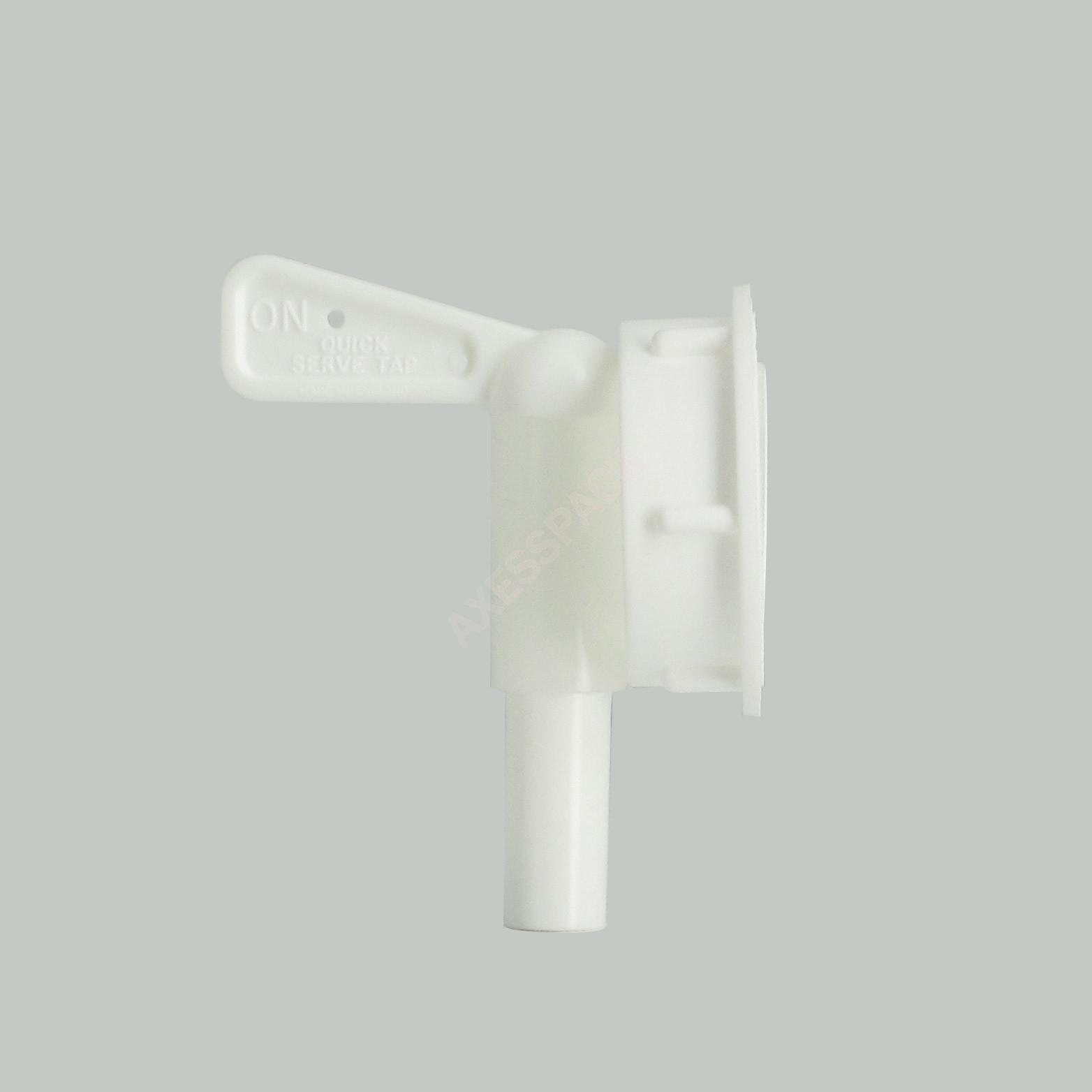 Robinet Quick Serve sur bague vissable Euro 38 mm blanche boisseau Standard