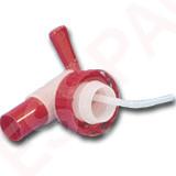 Robinet Aeroflow rouge sur bague DIN40
