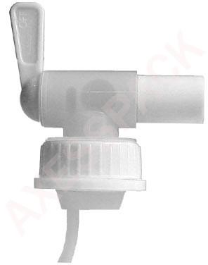 Robinet Aeroflow sur bague DIN40 - Blanc