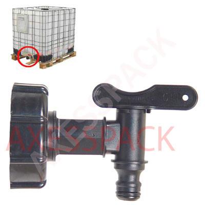"""Kit de vidange Femelle 2"""" S60x6 avec robinet connecteur jardin"""
