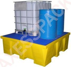 Bac de rétention PE 1500 litres