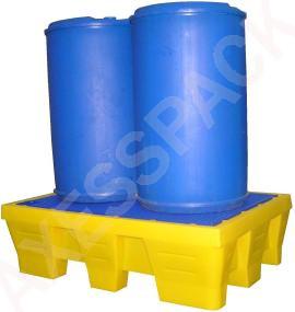Bac de rétention PE 240 litres (longitudinal)