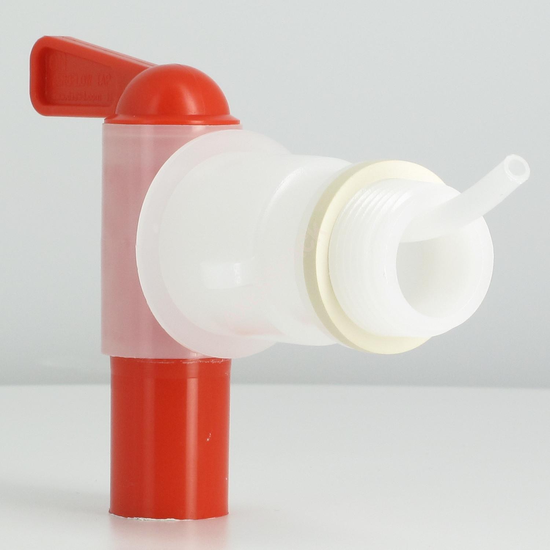 """Robinet Aeroflow + adaptateur filetage conique 3/4"""" BSP (pas gaz) + Joint blanc"""