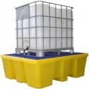 Bac de rétention 1000 litres plastique - caillebotis plastique