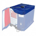 Couvercle calorifugé pour Bâche chauffante de cuve IBC - IP54 - avec ouverture Ø180mm