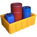 Plateforme de rétention 200 litres plastique sans caillebotis