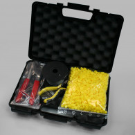 Kit plombs valise : 1000 plombs Rouge D9mm+2 pinces+1 bobine fil 8/10