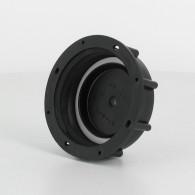 Bouchon F DIN61 (S60X6) noir plein + Joint Alvéocel