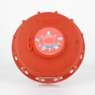 """Couvercle Schütz Ø150 rouge + bonde 2"""" Automatic breather (joint TPE) + Capsule"""
