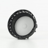 Bouchon F DIN61 (S60X6) PEHD noir + Joint MPV3 échangeur de pression