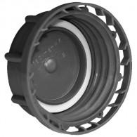 Bouchon F DIN50 Plein Noir + Inviolabilité + Joint PE