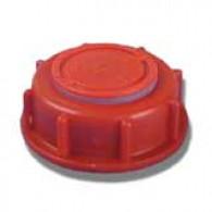 Bouchon F DIN61 (S60X6) Rouge Flex-Put + Inviolabilité jaune
