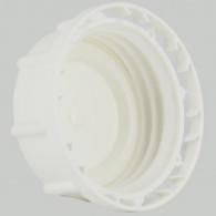 Bouchon F DIN61 (S60X6) PEHD Blanc plein + Inviolabilité