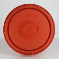 """Couvercle Schütz Ø220 rouge agréé UN + bonde 2"""" dégazage"""