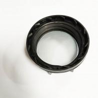 Bouchon F DIN61 (S60X6) Noir plein (plat) + Inviolabilité + Joint disque Alu-PE