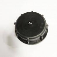 Bouchon F DIN61 (S60X6) Noir plein (plat) + Joint disque Alu-PE (sans inviolabilité)