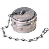 Bouchon avec verrou + chainette Ø 100 mm - Inox