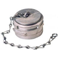 Bouchon avec verrou + chainette Ø 25 mm - Inox