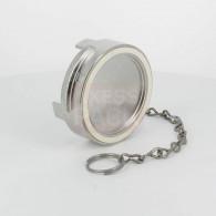 Bouchon sans verrou + chainette Ø 80 mm - Inox