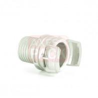Demi-raccord symétrique avec verrou - DN 50 mm - Embout annelé Ø 55 mm - Inox