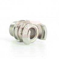 """Demi-raccord symétrique avec verrou - DN 20 mm - M 3/4"""" pas gaz - Inox"""