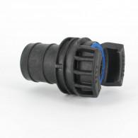 Demi-raccord symétrique avec verrou - DN 50 mm - Embout annelé Ø 55 mm - PP
