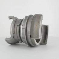 Réduction double raccord symétrique avec verrou - DN 100 et 80 mm - Alu