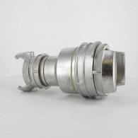 Réduction double raccord symétrique avec verrou - DN 80 et 50 mm - Inox