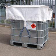 Housse / Coiffe de protection PP tissé pour IBC (1250x1250x400)
