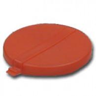 "Capsule 2"" rouge plastique à clipser (PE)"