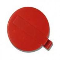 "Capsule 3/4"" rouge plastique à clipser (PE)"
