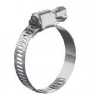 Collier de serrage inox à bande ajourée 62-82 mm