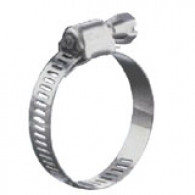 Collier de serrage inox à bande ajourée 107-127 mm