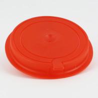 """Capsule 2"""" plastique rouge / jaune (PE) Mamor pour couvercle"""