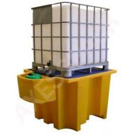 Bac de rétention PE 1100 litres + Réceptacle intégré