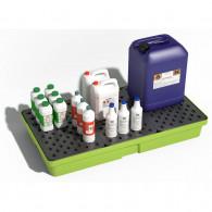 Bac de rétention PE 90 litres - Caillebotis plastique