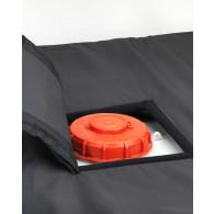 Coiffe isolante de couverture chauffante pour cuve IBC - ouverture 250x250mm