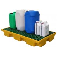 Plateforme de rétention 80 litres plastique avec caillebotis polypropylène