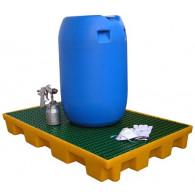 Plateforme de rétention 120 litres plastique avec caillebotis polypropylène
