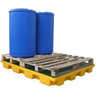 Plateforme de rétention 240 litres plastique avec caillebotis polypropylène