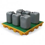 Plateforme de rétention 180 litres plastique avec caillebotis PP