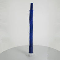 Bec verseur PEHD (40 cm) orientable bleu sur bouchon Femelle Din61
